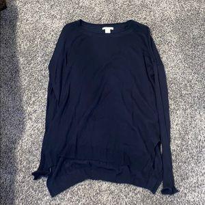 Navy thin sweater